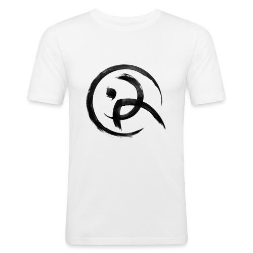 PKA_Enso_black - Männer Slim Fit T-Shirt