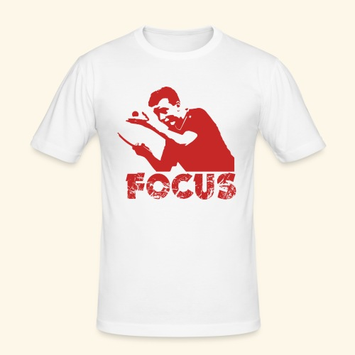 Focus on the GAME and Win the Championship - Männer Slim Fit T-Shirt