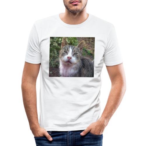 Katze Max - Männer Slim Fit T-Shirt