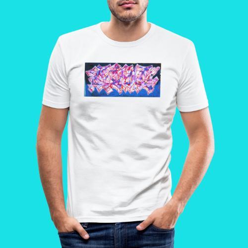 streetart #9 - Mannen slim fit T-shirt
