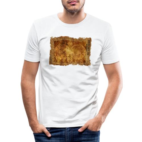 map of the world 2241469 1920 - Männer Slim Fit T-Shirt