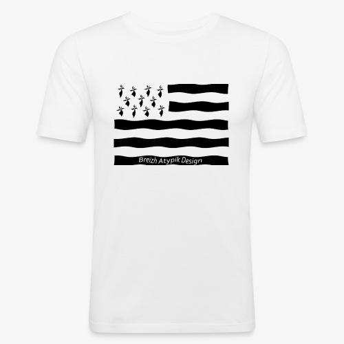 Gwenn ha Du-Noir fond transparent - T-shirt près du corps Homme