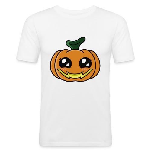 Citrouille d'Halloween Kawaii ! - T-shirt près du corps Homme