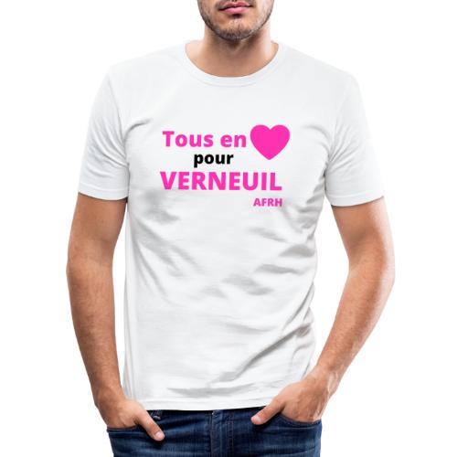 Tous en coeur pour Verneuil - T-shirt près du corps Homme