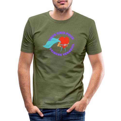 Tous Unis pour Vaincre verneuil violet - T-shirt près du corps Homme
