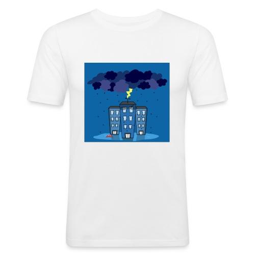 onweer-jpg - Mannen slim fit T-shirt