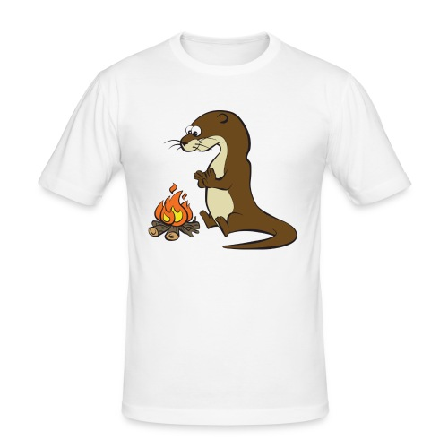 Song of the Paddle; Quentin campfire - Men's Slim Fit T-Shirt