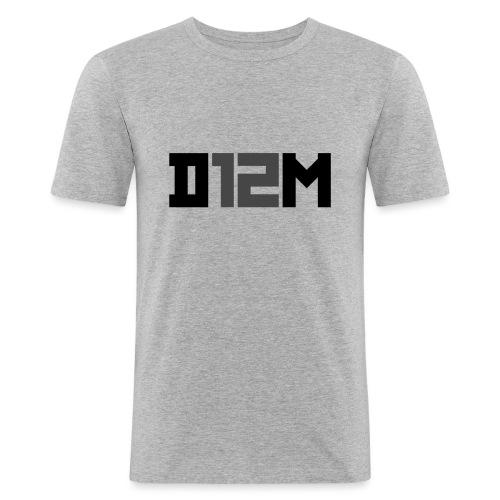D12M: SHORT BLACK - Mannen slim fit T-shirt