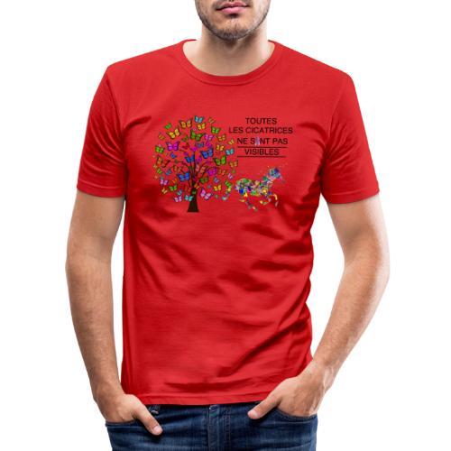 Toutes les cicatrices ne sont pas visibles - T-shirt près du corps Homme