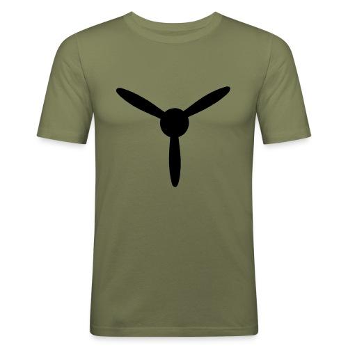 3 blade propeller 1 colour - Men's Slim Fit T-Shirt