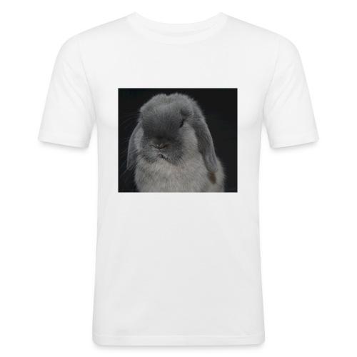 Conejo minilop mujer - Camiseta ajustada hombre