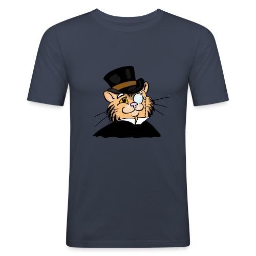 Gatto nonno - Maglietta aderente da uomo