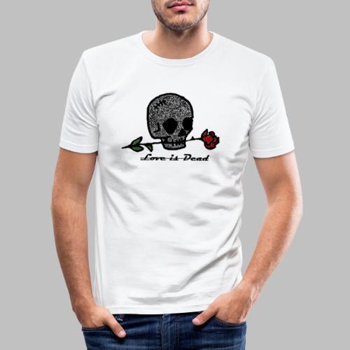 Love Is Dead Custom Skull Design - Mannen slim fit T-shirt