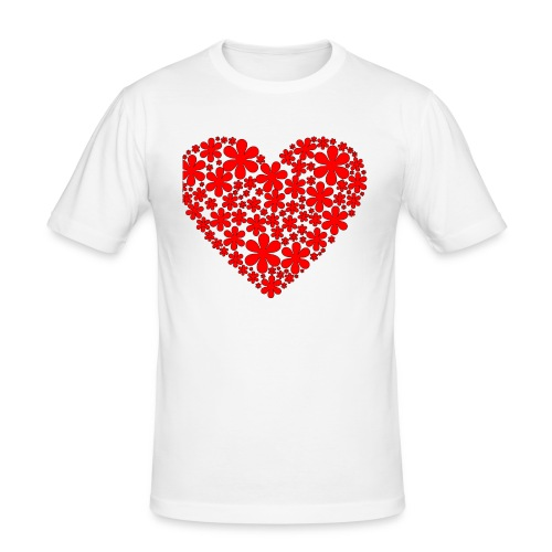 serce - Obcisła koszulka męska