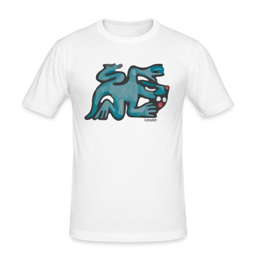 Aztec Lizard/Net - Men's Slim Fit T-Shirt
