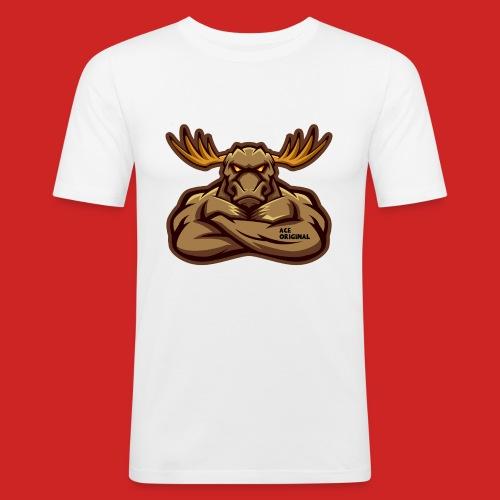 Ace Original Moose Mascot - Men's Slim Fit T-Shirt