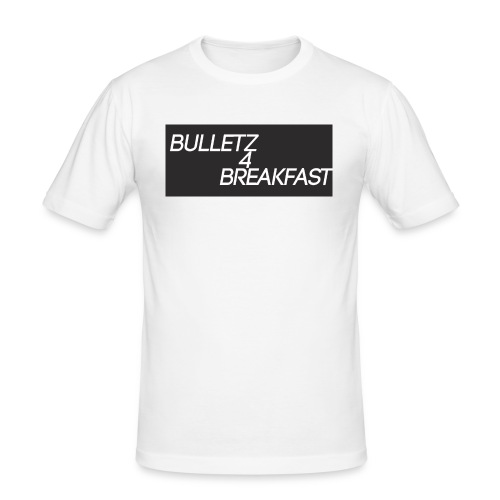 bulletz4breakfast_t-shirt - Men's Slim Fit T-Shirt