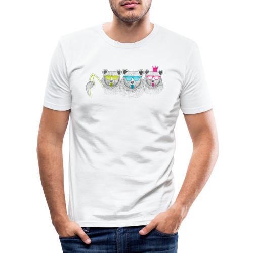BABO Bärenfamilie - Männer Slim Fit T-Shirt