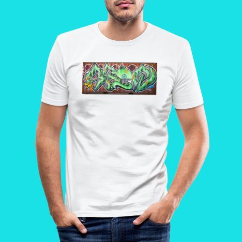 streetart #10 - Mannen slim fit T-shirt