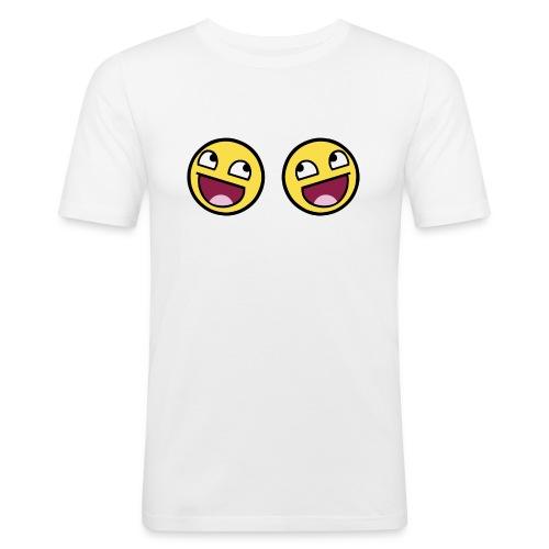 Boxers lolface 300 fixed gif - Men's Slim Fit T-Shirt