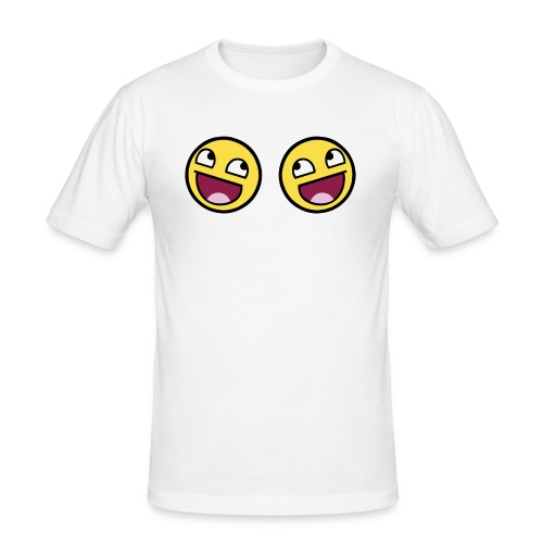 Boxers lolface 300 fixed gif - Men's Slim Fit T-Shirt