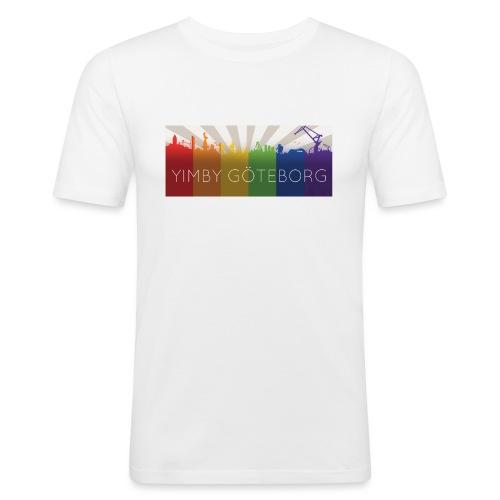 Yimby regnbågs-Tshirt - Slim Fit T-shirt herr
