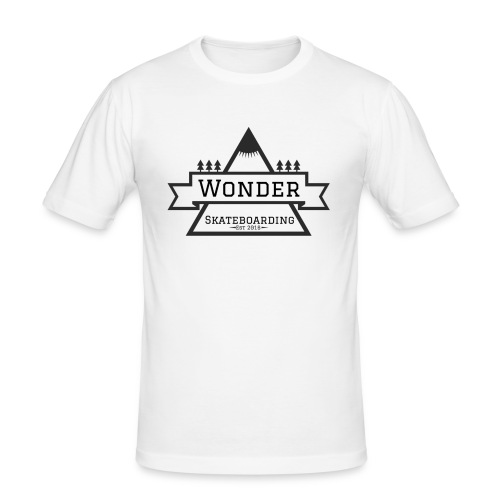 Wonder T-shirt: mountain logo - Herre Slim Fit T-Shirt