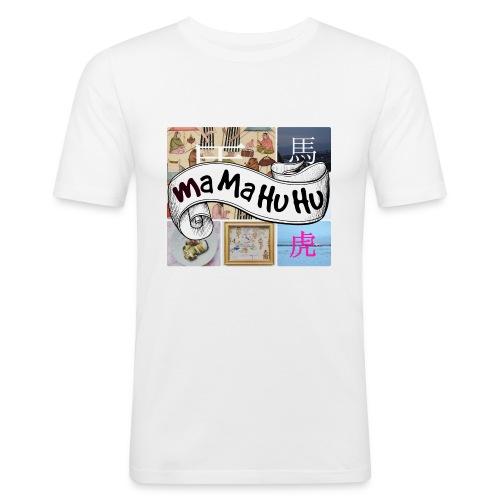 Ma ma hu hu / So-so phonecase - Miesten tyköistuva t-paita