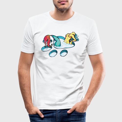 Sirène féline coquine - T-shirt près du corps Homme