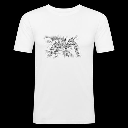 les girafes bavardes - T-shirt près du corps Homme