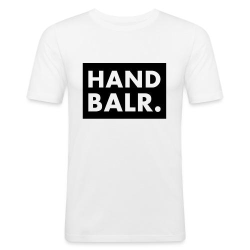 Handbalr Wit - Mannen slim fit T-shirt