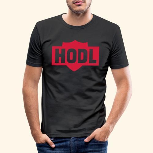 HODL TO THE MOON - Miesten tyköistuva t-paita