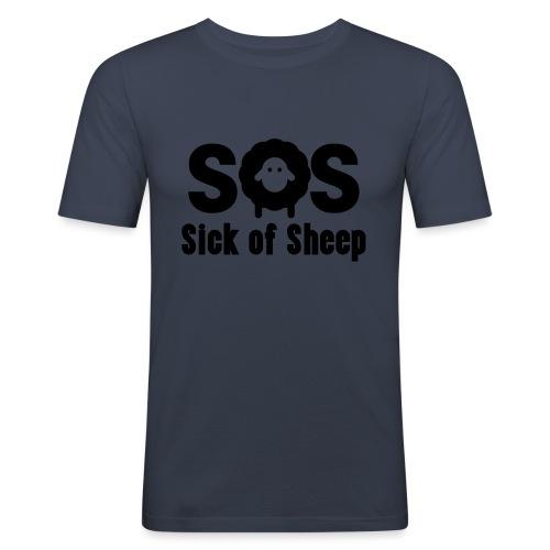 SOS - Men's Slim Fit T-Shirt