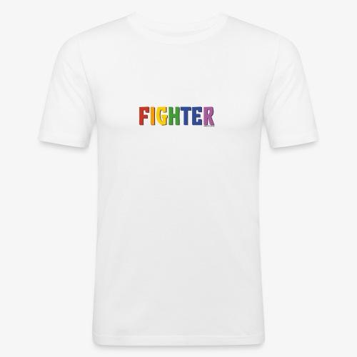 Fighter Pride (Rainbow) - Men's Slim Fit T-Shirt