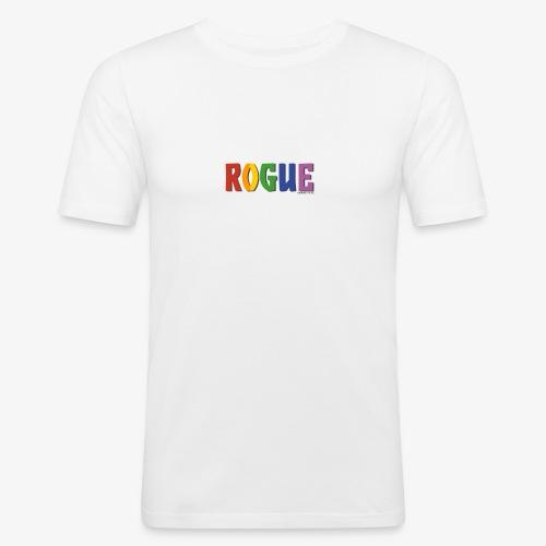 Rogue Pride (Rainbow) - Men's Slim Fit T-Shirt