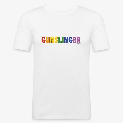 Gunslinger Pride (Rainbow) - Men's Slim Fit T-Shirt