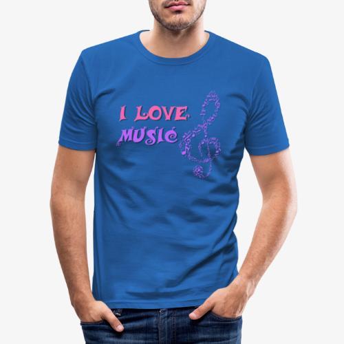 Love Music - Camiseta ajustada hombre