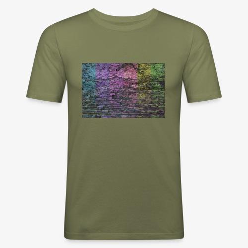 Regenbogenwand - Männer Slim Fit T-Shirt