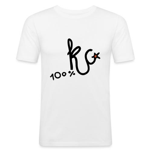 100%KC - Mannen slim fit T-shirt