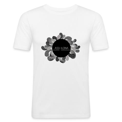 Assi Ilona vetoketjuhuppari UNISEX - Miesten tyköistuva t-paita