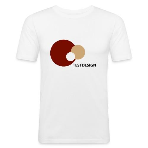 testdesign_font_black_transparent_background - Men's Slim Fit T-Shirt
