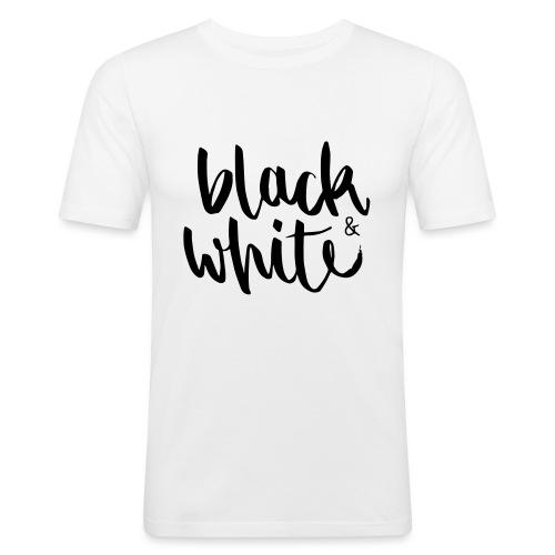 black&white1 - Männer Slim Fit T-Shirt
