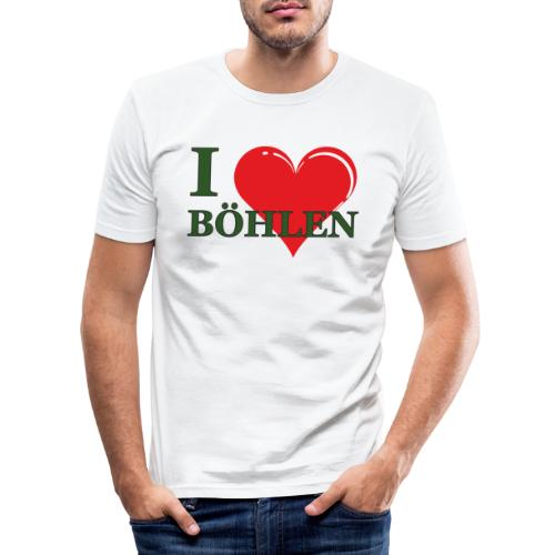 Ich liebe Böhlen. - Männer Slim Fit T-Shirt
