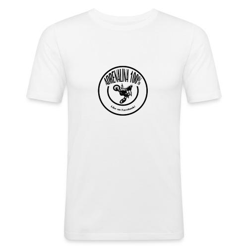 logo adrenalina100% - Maglietta aderente da uomo