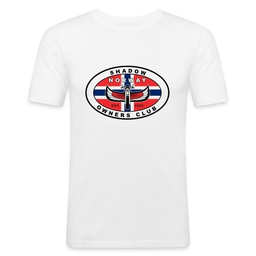 SHOC Norway Patch jpg - Slim Fit T-skjorte for menn