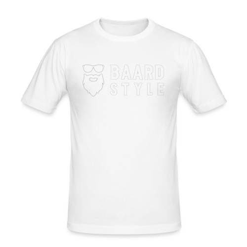 BaardStyle_1-white hoodie - Mannen slim fit T-shirt