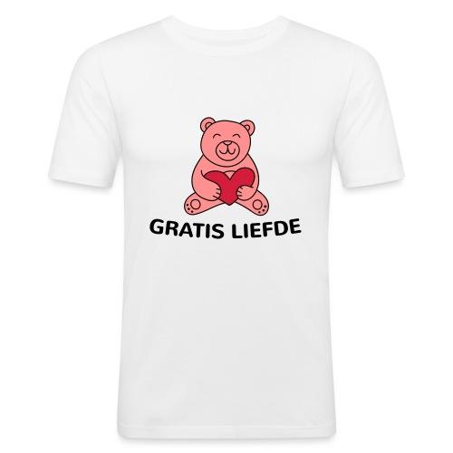 Grappige Rompertjes: Gratis liefde - Mannen slim fit T-shirt