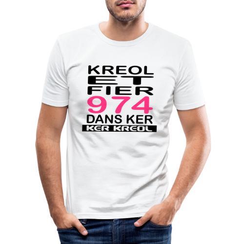 fier et kreol hom 02 ti - T-shirt près du corps Homme