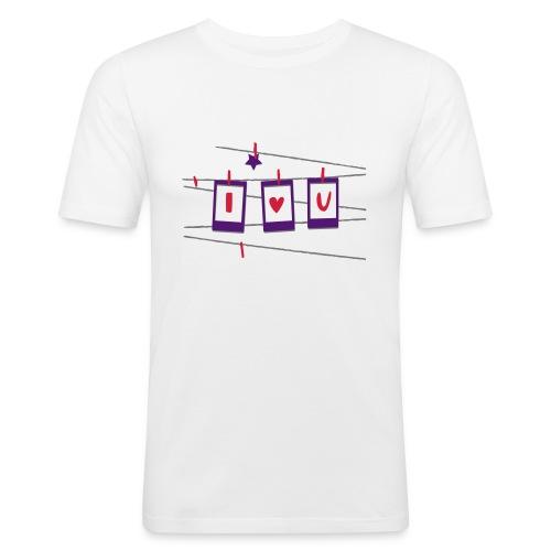 I serce U - Obcisła koszulka męska