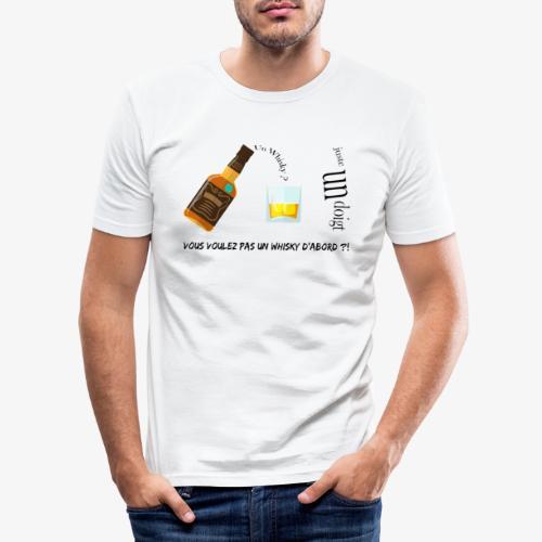 Un whisky ? Juste un doigt - T-shirt près du corps Homme